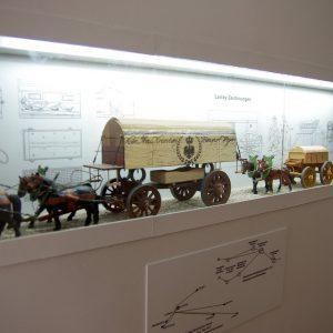 Miniaturen zeigen detailgetreu die Verwundetentransporte