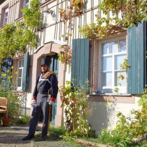 Das Pfarrhaus in Seifertshain, unverändert seit der Völkerschlacht