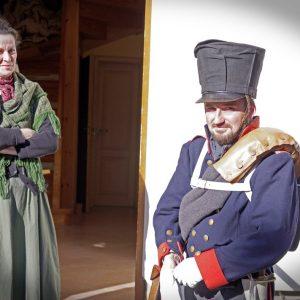 Der preußische Offizier (Michél Kothe) und Pfarrerstochter Auguste Vater (Maja Chrenko)