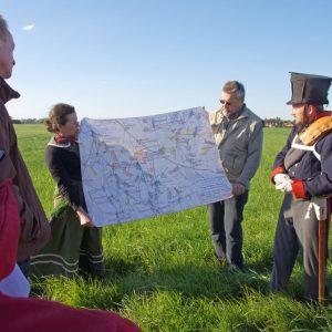 Während der szenischen Wanderung wird auch das Vorgehen der Truppen erläutert