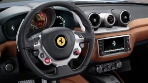Hightech-Lenkrad im Ferrari California T